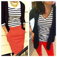 striped top two combinations