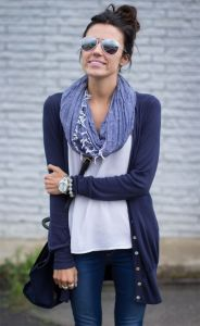 basic outfit and scarf