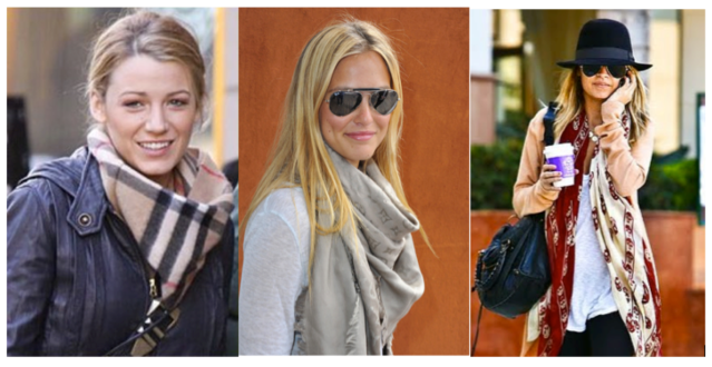 celebritieswearingscarves