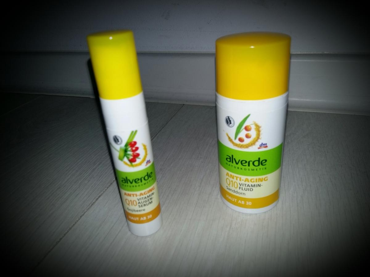Alverde Q10 Vitaminfluid Sanddorn and Augenserum Gojibeere/Alverde Q10 витаминен флуид с облепиха и околоочен серум с годжибери