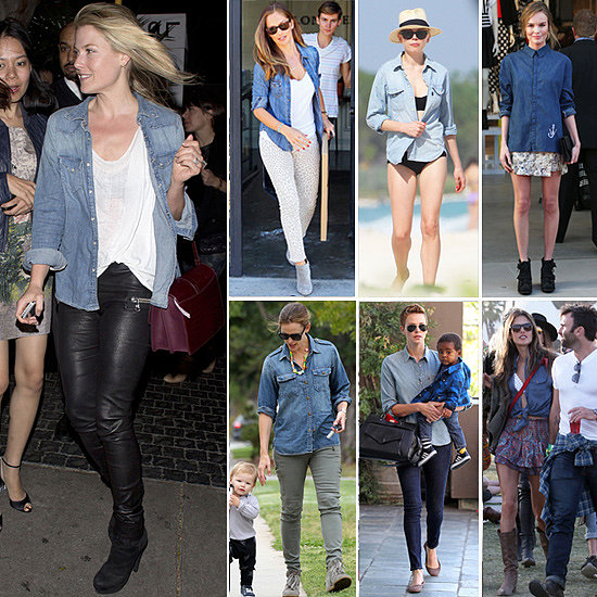 How-Wear-Denim-Shirt-Celebrity-Pictures