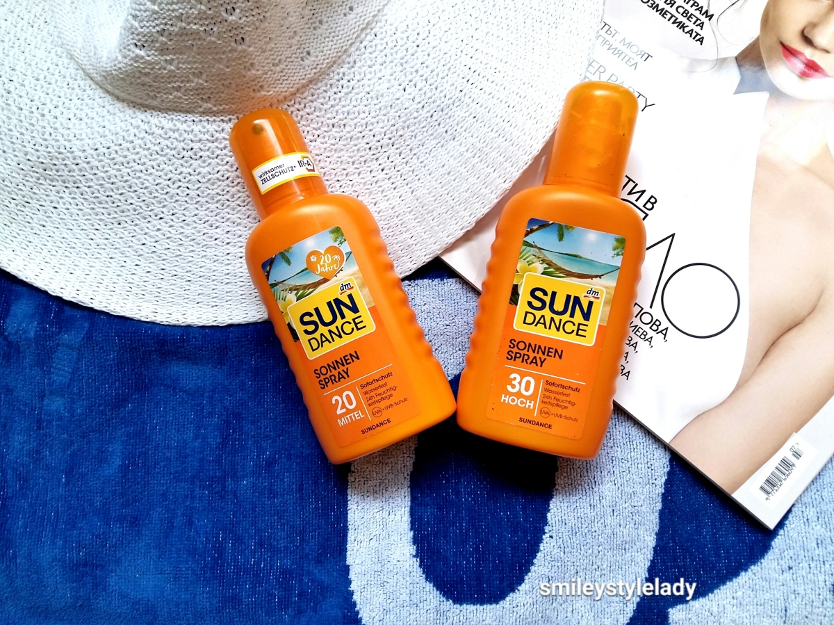 Слънцезащита/Sunscreen review:DM SunDance Sonnenspray 20 & 30