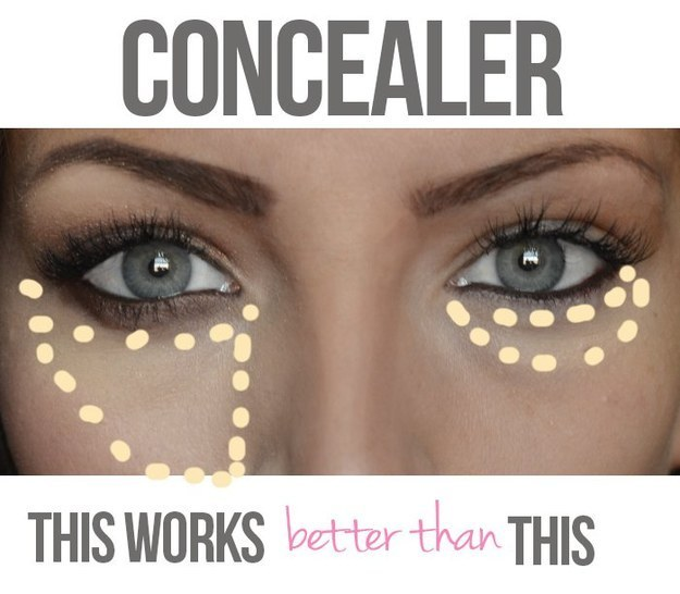 concealer triangle shape buzzfeed
