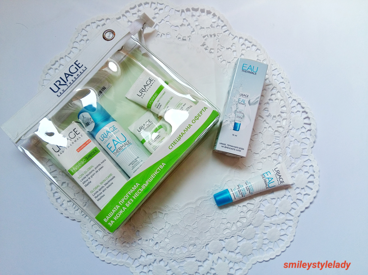 Review: URIAGE Hyseac 3 - Regul Global Skin Care, Purifying Mask and Cleansing Gel+Water Eye Countor Cream and Thermal water