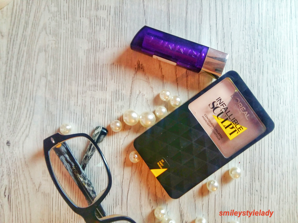 Review: L'Oréal Pallette Infallible Sculpture and Rimmel London Moisture Renew Lipstick
