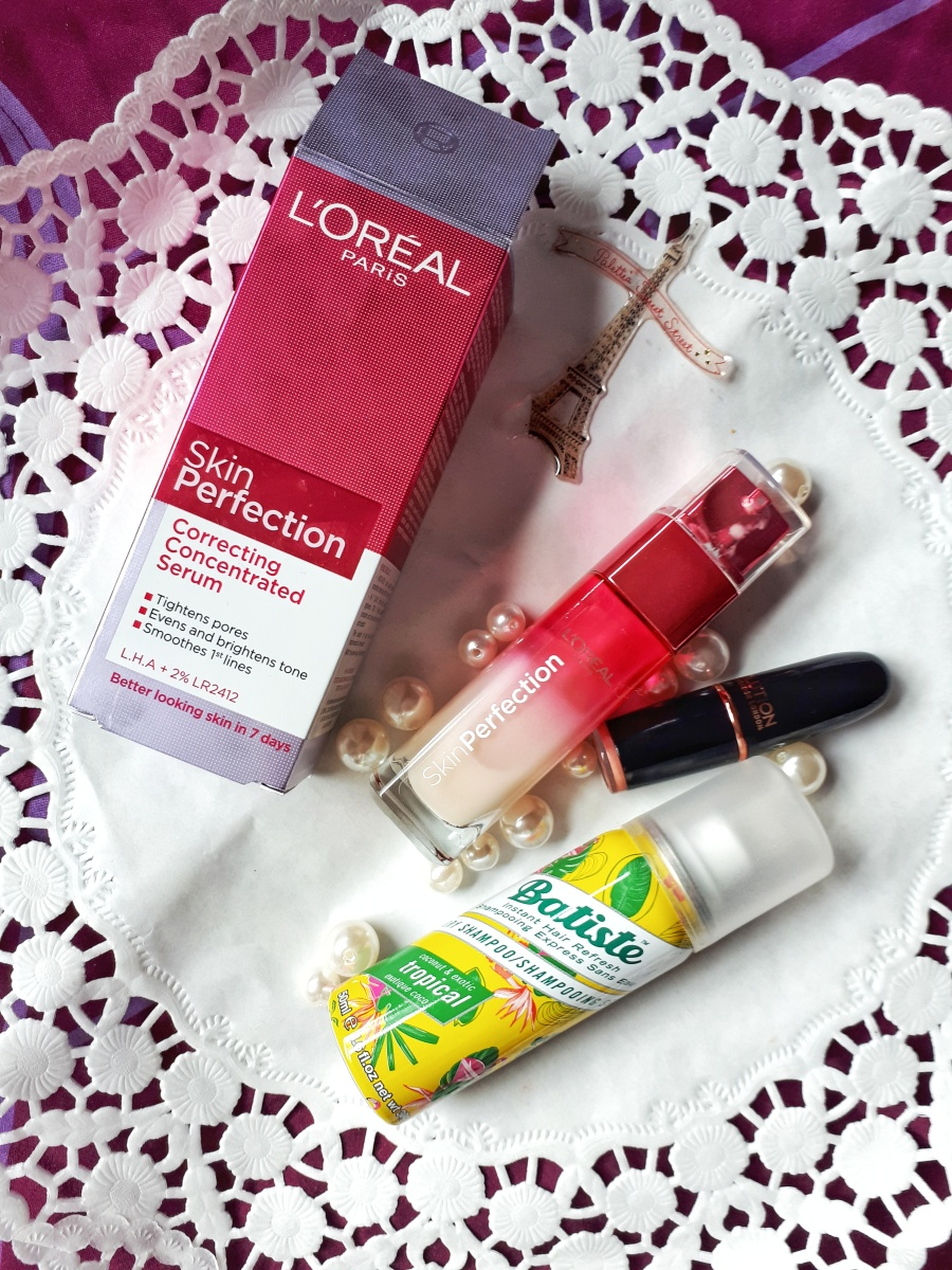 Review: L'oreal Skin Perfection Serum, Makeup Revolution London Iconic Pro Lipstick and Batiste Dry Shampoo